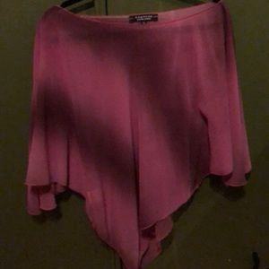 Vintage Rampage sheer pink cape  style blouse